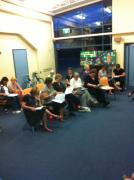Some of our Sopranos learning a new song
